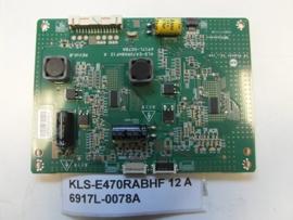 LED DRIVER  KLS-E470RABHF 12 A   6917L-0078A  PANSONIC