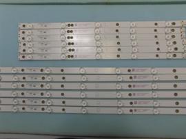 LS711  SET LED STRIPS ( 12 STUKS )996599001115  IDEM   996592001291  IDEM  996598003923  PHILIPS