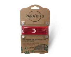 Parakito Armband Design Rood  Navulbare band & 2 tabletten