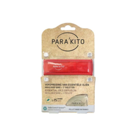 Parakito Armband Rood Navulbare band & 2 tabletten