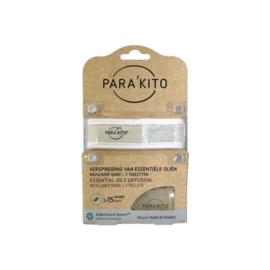 Parakito Armband Wit Navulbare band & 2 tabletten