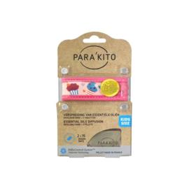Parakito Kids Armband Cupcake Navulbare band & 2 tabletten