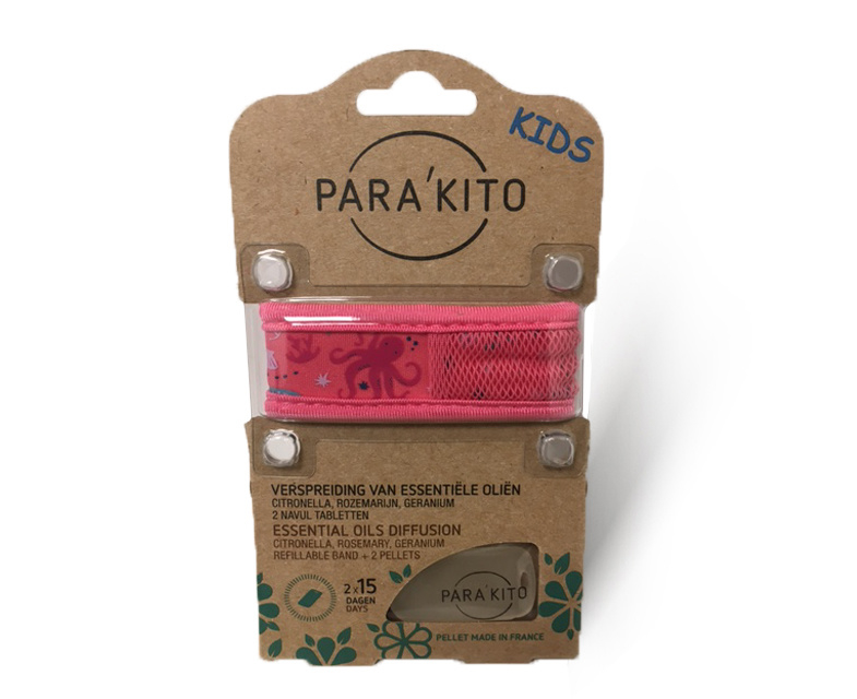 Parakito Kids Armband Octopus  Navulbare band & 2 tabletten