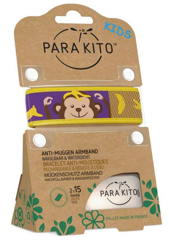 Parakito Kids Armband Aap  Navulbare band & 2 tabletten