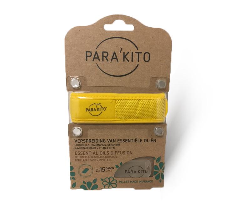 Parakito Armband Geel Navulbare band & 2 tabletten