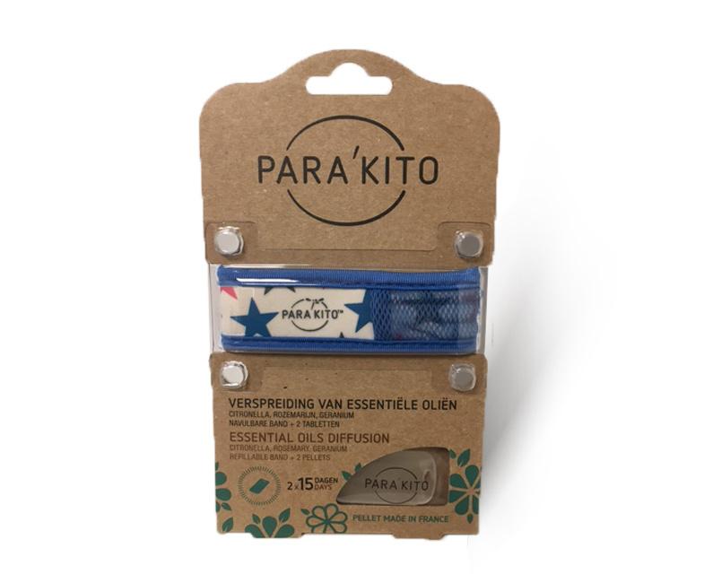 Parakito Armband Design Blauw Navulbare band & 2 tabletten