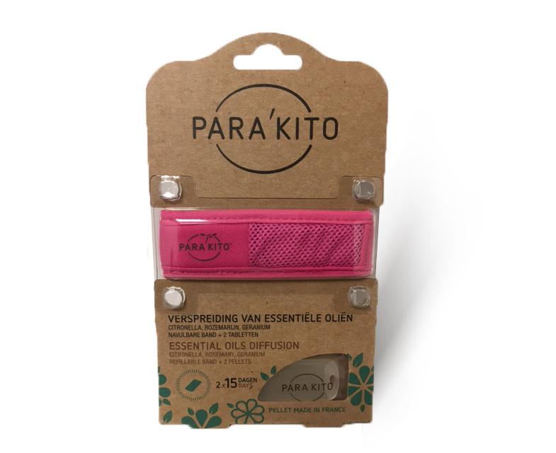 Parakito Armband Fuchsia Navulbare band & 2 tabletten