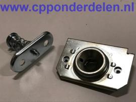 911889 Achterklep vergrendelingsset (zilverkleurig)