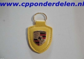 911236 Porsche sleutelhanger geel