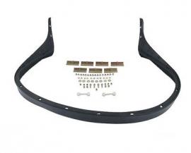 911576 rubber spoiler voorbumper met bevestigingen