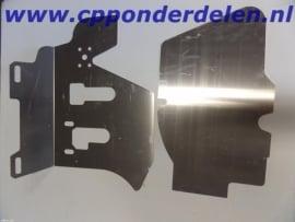 911593 Voetenplaat aluminium Coupe