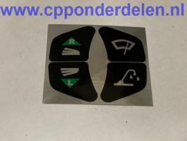 911732 Sticker richtingaanwijzer/ ruitenwisser