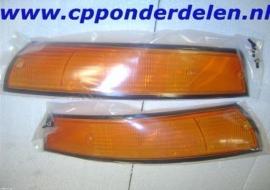 911029 Set knipperlichtglazen USA '72-'73