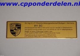 911265 Ontstekingstijdstip 911 `78-`80