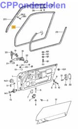 911049 Deurrubber coupe 911