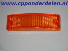 911410 Knipperlichtglas voorzijde oranje