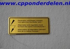 911248 Sticker Spanningsregelaar / dynamo