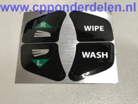 911739 Sticker richtingaanwijzer/ruitenwisser
