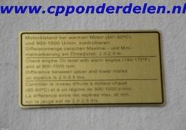 911255 Sticker Motoroliestand `74-`77