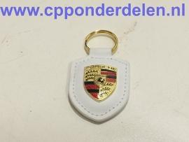 911745 Porsche sleutelhanger wit
