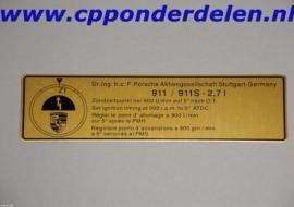 911266 Ontstekingstijdstip 911 `74-`75