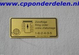 911247 Sticker Ontstekings volgorde `84-`89