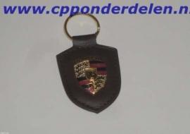 911292 Porsche sleutelhanger bruin