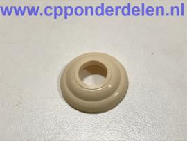 901101 Rozet portiergreep ivory wit