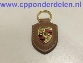 911746 Porsche sleutelhanger cognac