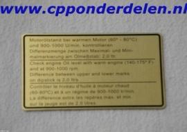911254 Sticker Motoroliestand `73