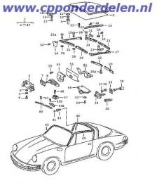 911426 Targa/cabrio voorruitstijl rubber