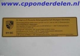 911379 Ontstekingstijdstip 911 SC
