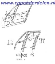 911417 Deurframe vilt coupe