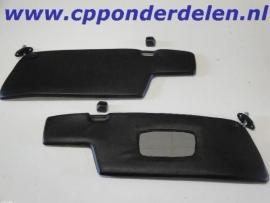 911423 Set zonnekleppen zwart/zwart coupe