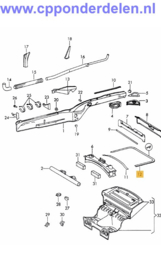 911405 Motorruimte rubber lang
