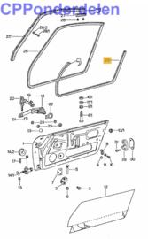 911050 Deurrubber cabrio/targa oud type