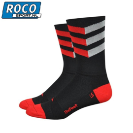 DeFeet Aireator High Top Sock Zig Zag Red