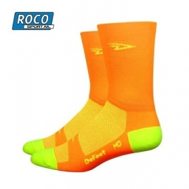 DeFeet Hi Vis Orange wielersok