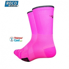 DeFeet Cyclismo Neon Pink Compressie sock