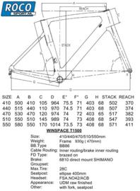 Winspace T1500 White Ultegra 8000  53cm