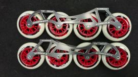 Luigino Striker MarkII skeelerframe 12.0 4x100mm Compleet rood