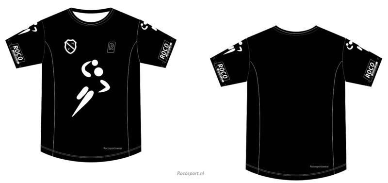 Handbal Niedorp Shirt korte mouw Zwart