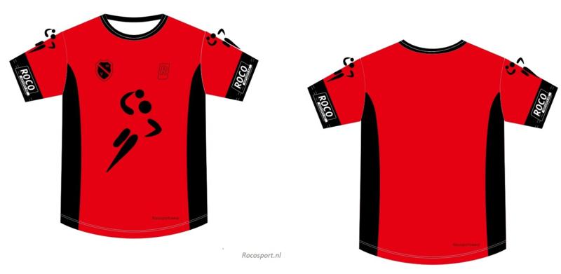 Handbal Niedorp Shirt korte mouw Rood