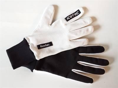 Snijvaste handschoen Wit/Zwart