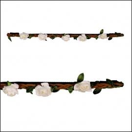 haarbandje little roses wedding white