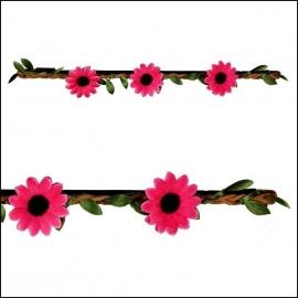 haarbandje flower fuchsia
