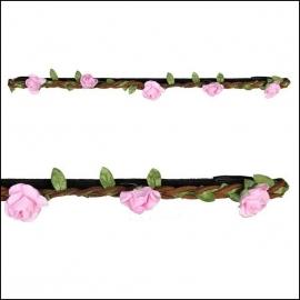 haarbandje little roses pink
