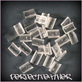 bontjes/waxjes transparant 25 stuks