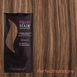 Flip in Hair rich brown butterscotch 4-27