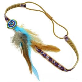 haarbandje festival feather